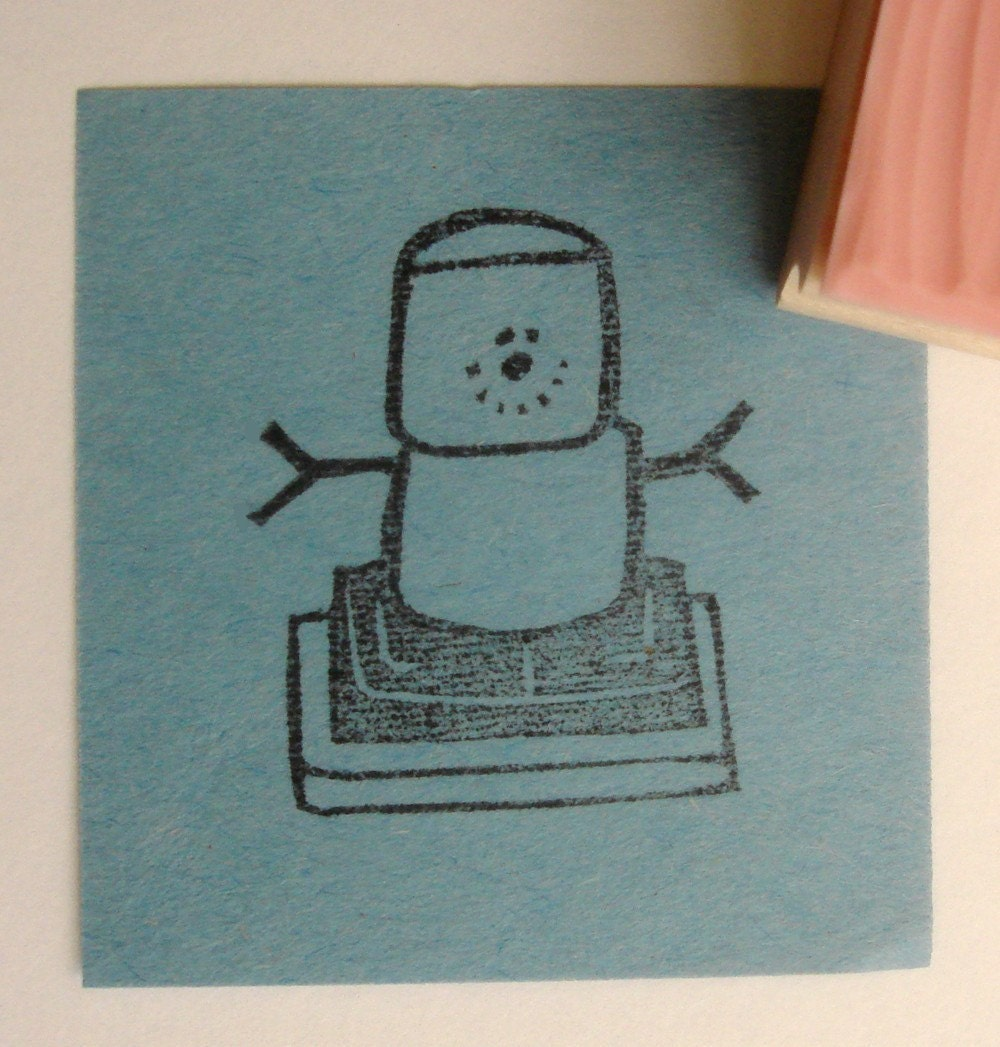 S mores hand carved rubber stamp by cupcaketree on etsy