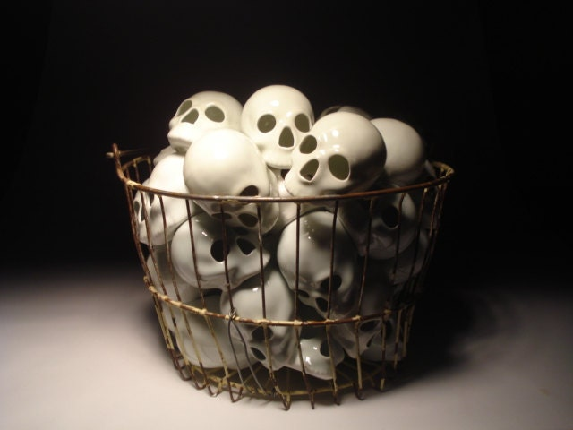 Skulls Replace Eggs Basket