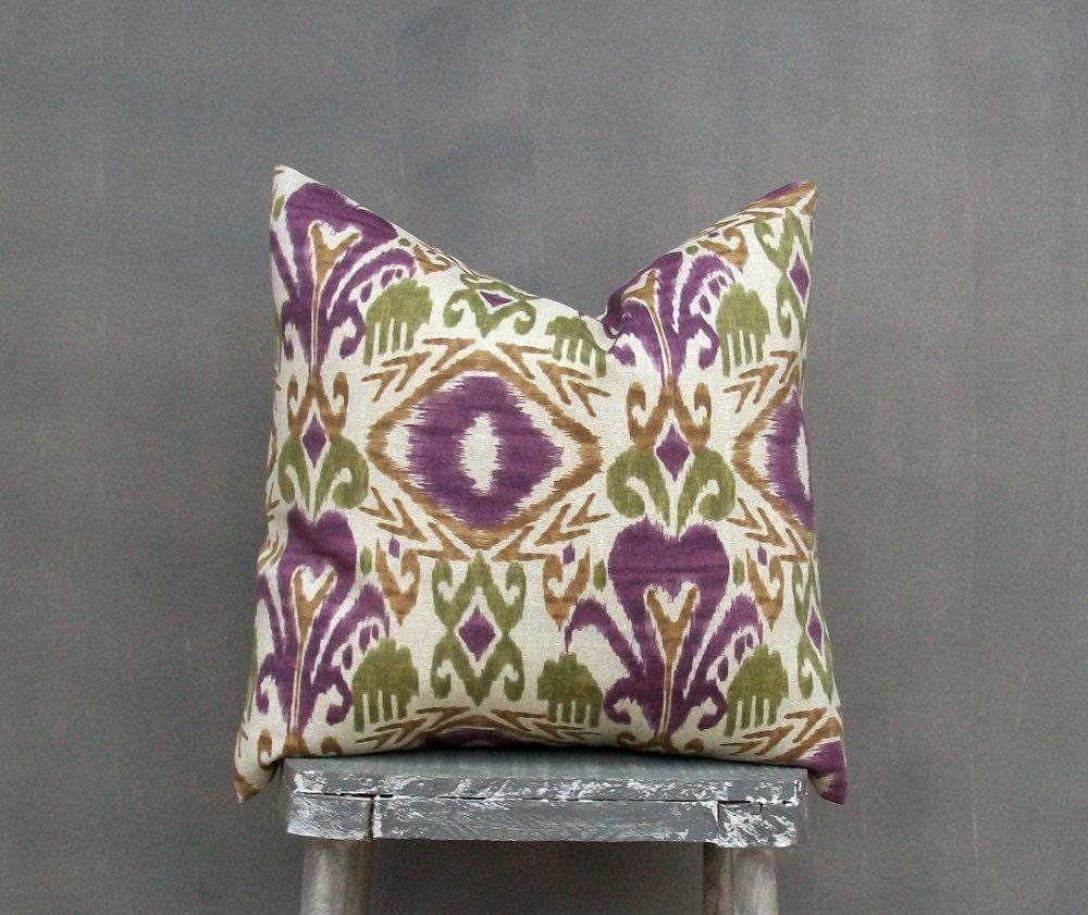 Etsy Decorative Throw Pillow : Ikat Pillow Cover Decorative Throw Pillow Outdoor by EdenPillows