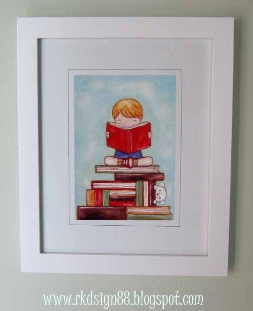 rkdsign88.blogspot.com etsy boy book fun illustration nursery drawing art print cute whimsical reproduction