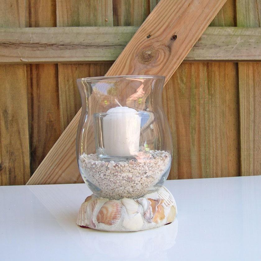 Seashell Candleholder or Vase - Embellished with Driftshells