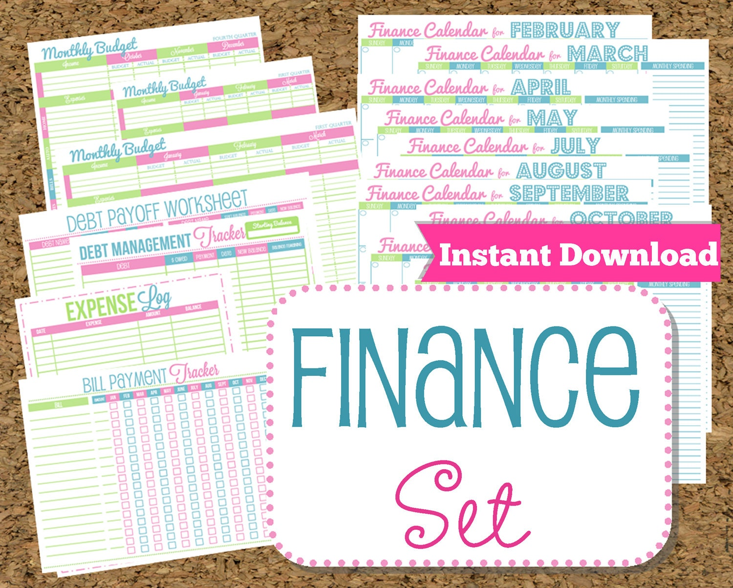 INSTANT DOWNLOAD Finance Organizer by HappyOrganizedLife on Etsy