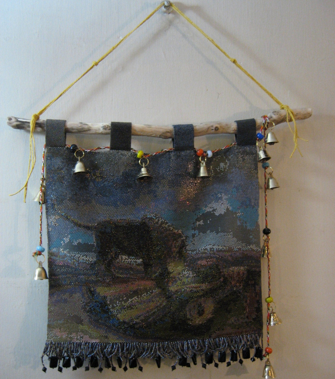 Sleeping Gypsy Bead Tapestry Wall Hanging
