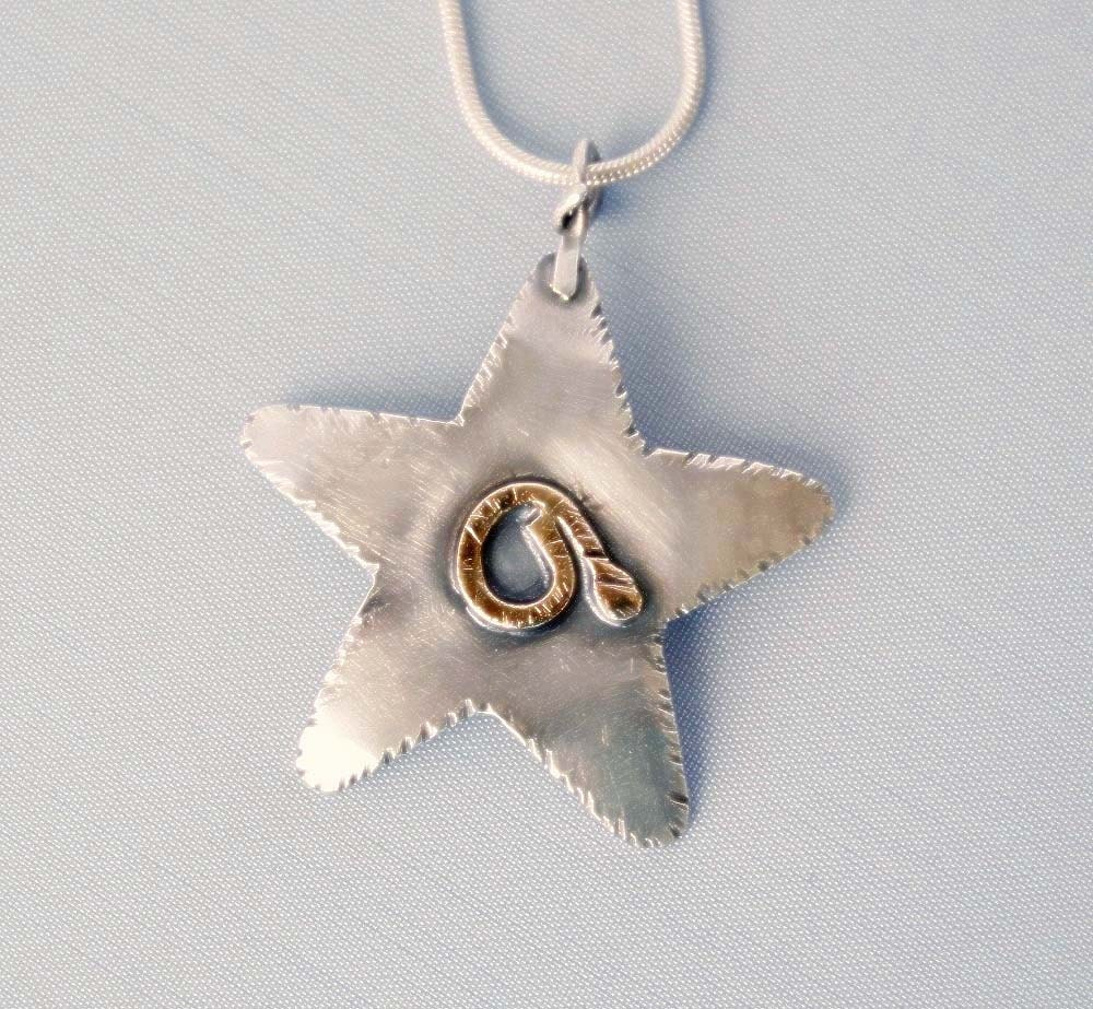 Sterling Silver Star Pendant by Cyndie Smith Designs on Upcycle Fever