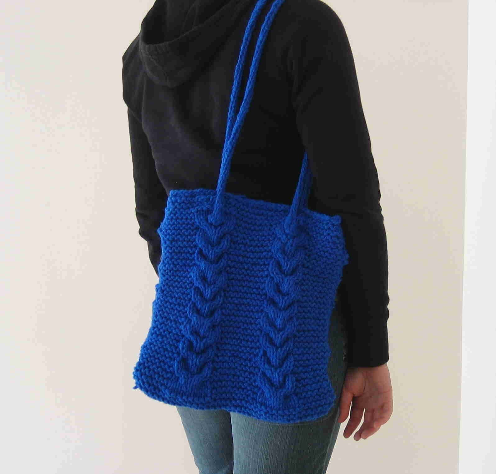 Knitting Pattern Cable Bag : Its Only String: Cable Knit Tote Bag