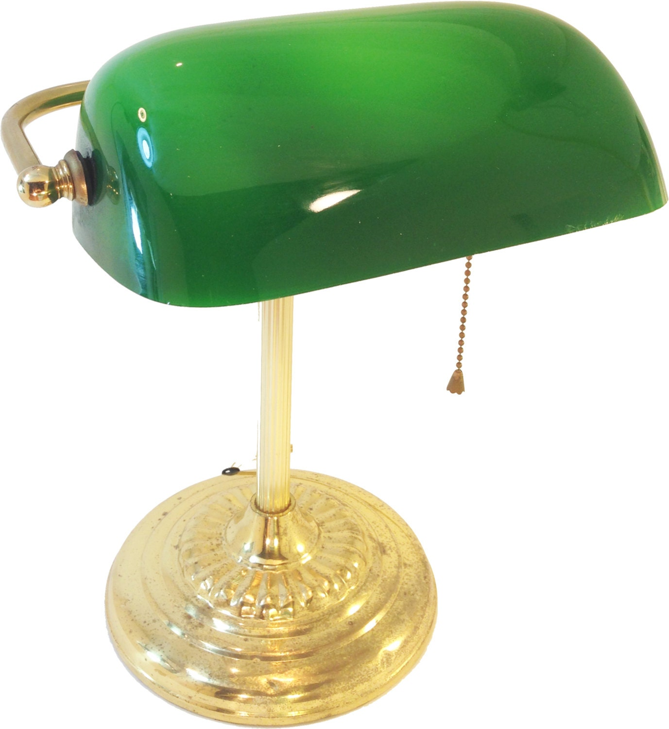 Authentic Vintage Bankers Desk Lamp Brass & by RecycledRevival