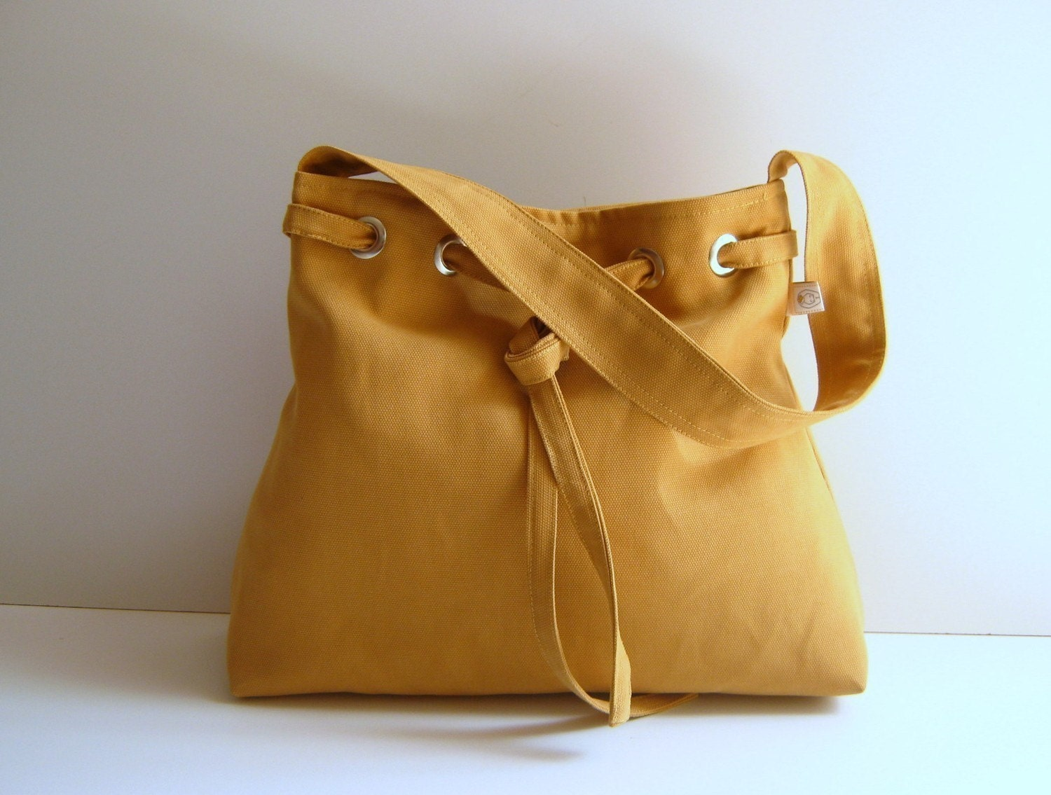 NEW Lovely Bag in Mustard Yellow - everyday purse -