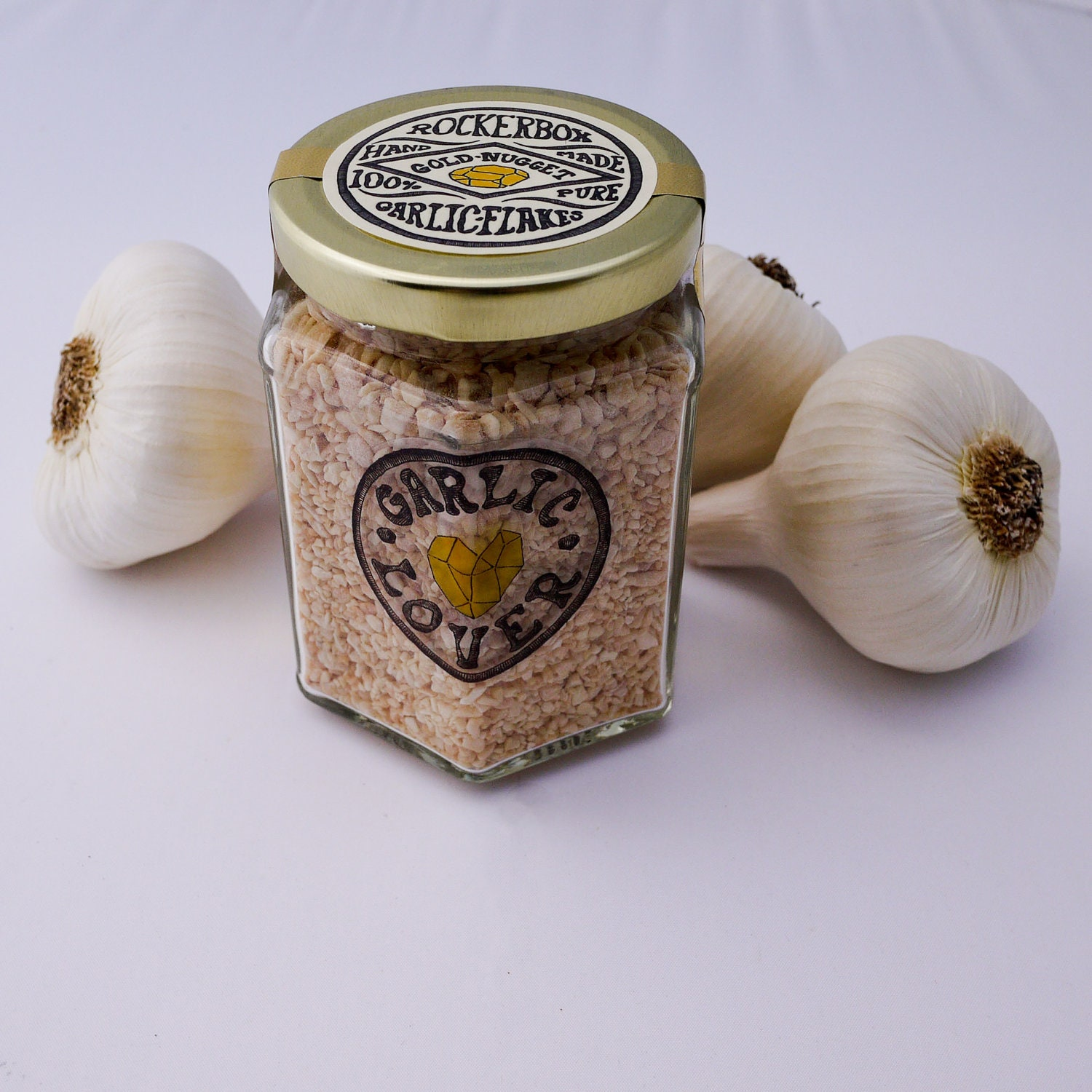 Gourmet Garlic Flakes, Garlic Lover's Size - 12 oz total - RockerboxGarlic