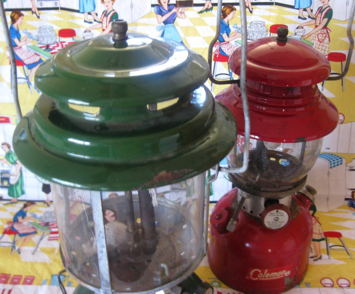 Vintage Pair of COLEMAN Camp Lanterns