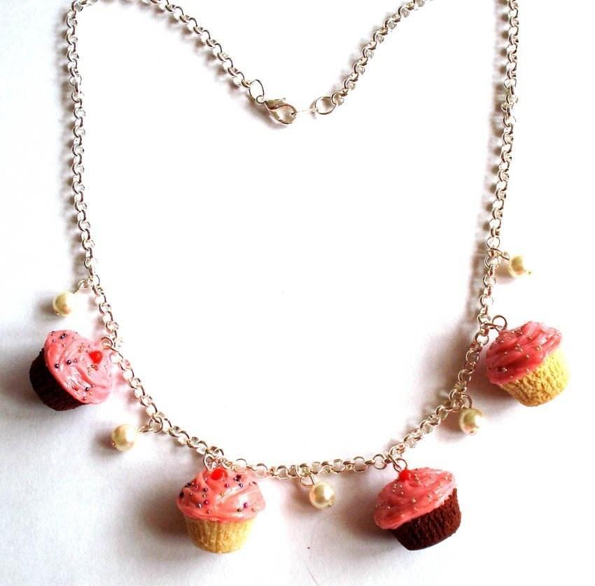 Homemade Cupcake Charm Necklace