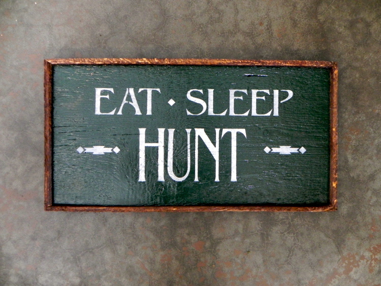 Wood sign hunting decor rustic outdoor signs by crowbardsigns for Outdoor decorative signs