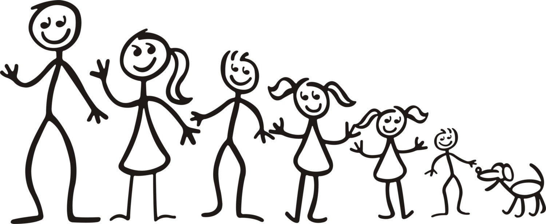 Family stick figures clip art