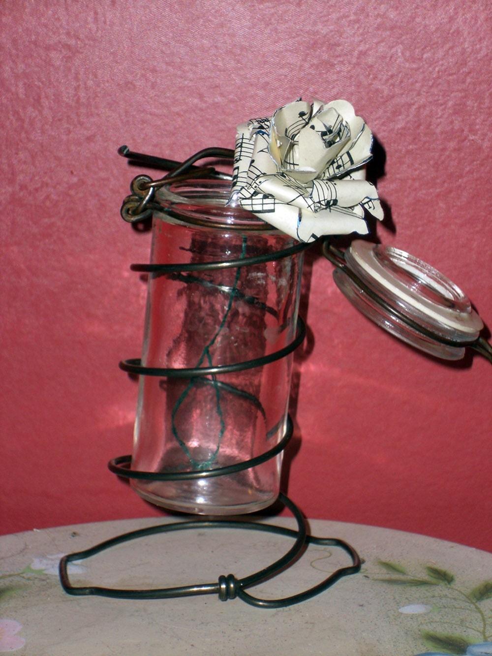 Bedspring Bud Vase