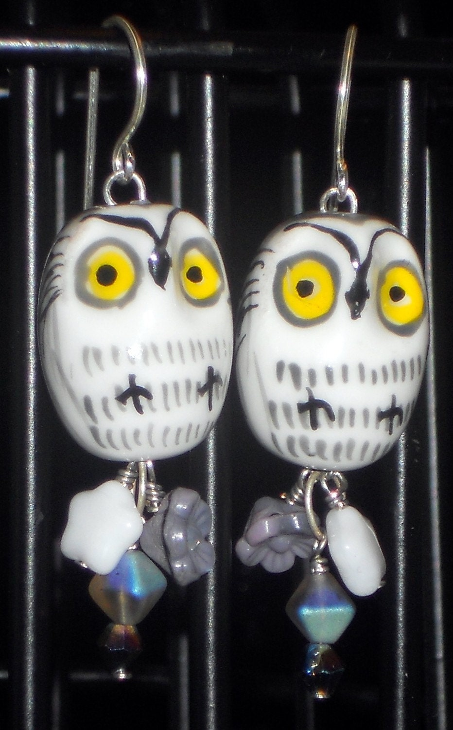Sweet Owl Earrings - Grey