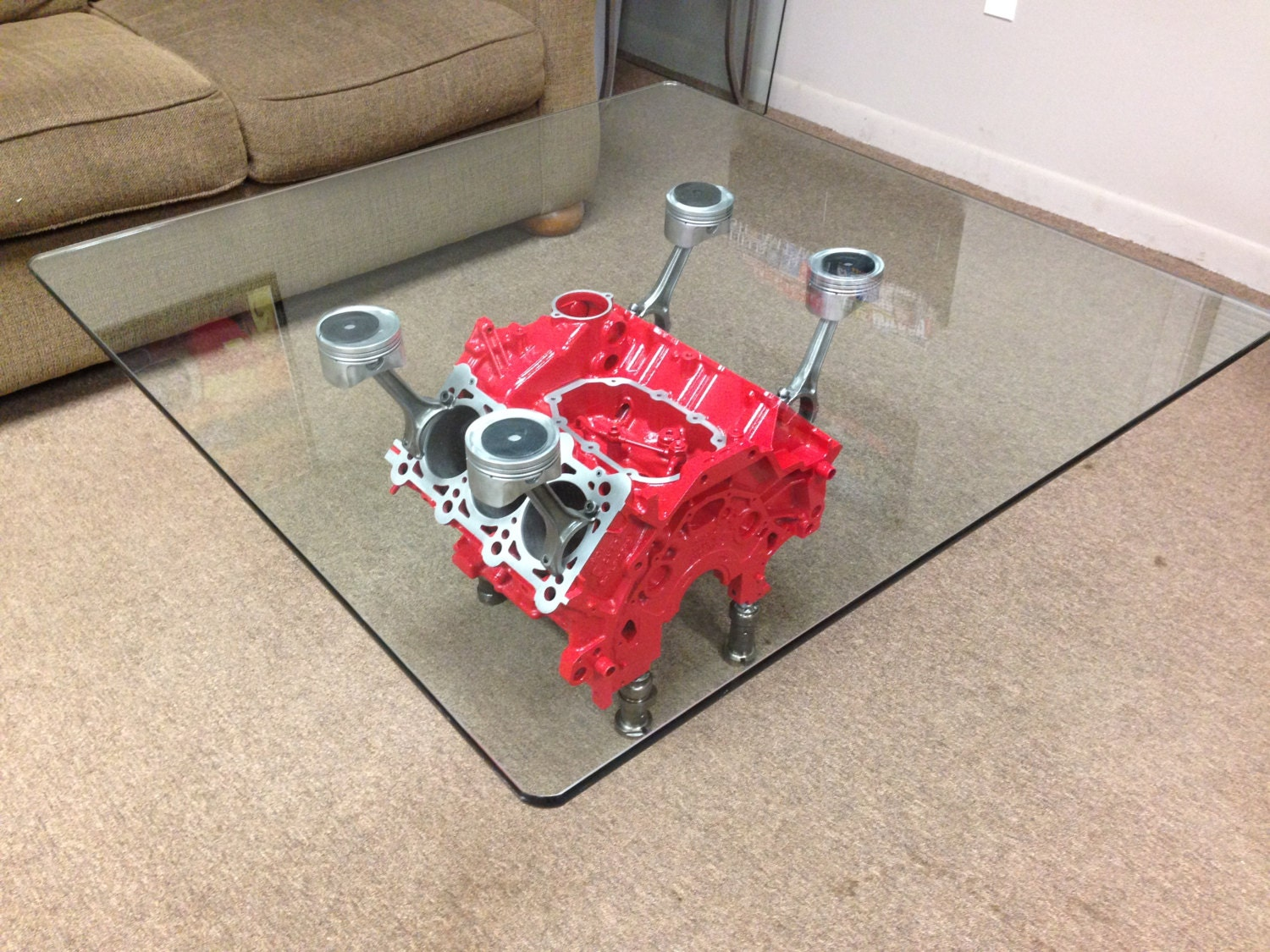 Engine Block Coffee Table By Lumppnsons On Etsy