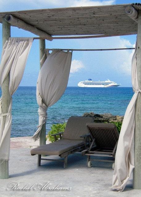 Beach Cabana - Coco Cay, Bahamas 8x10 Fine Art Photograph: Team Challenge