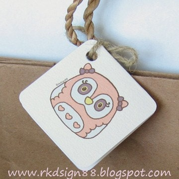 rkdsign88.blogspot.com etsy owl gift label candy printable pdf painting drawing art print cute whimsical reproduction tag notecard
