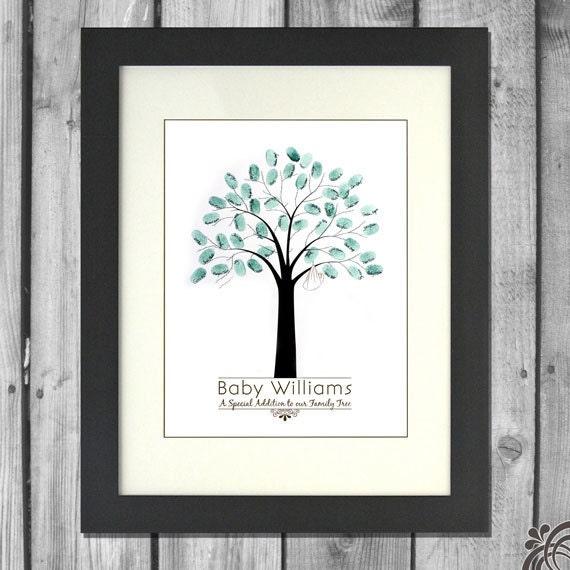 Thumbprint Tree Guest Sign: Printable Baby Shower Fingerprint Tree By ChristinaElizabethD