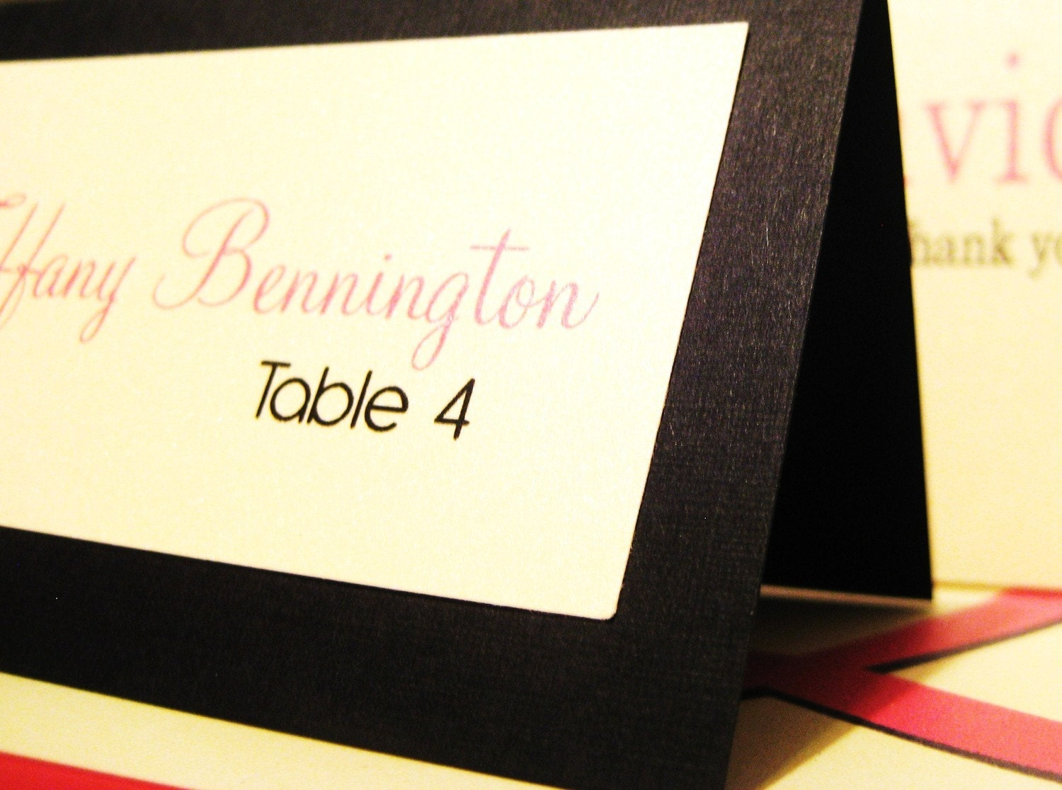Tent Style Escort Cards