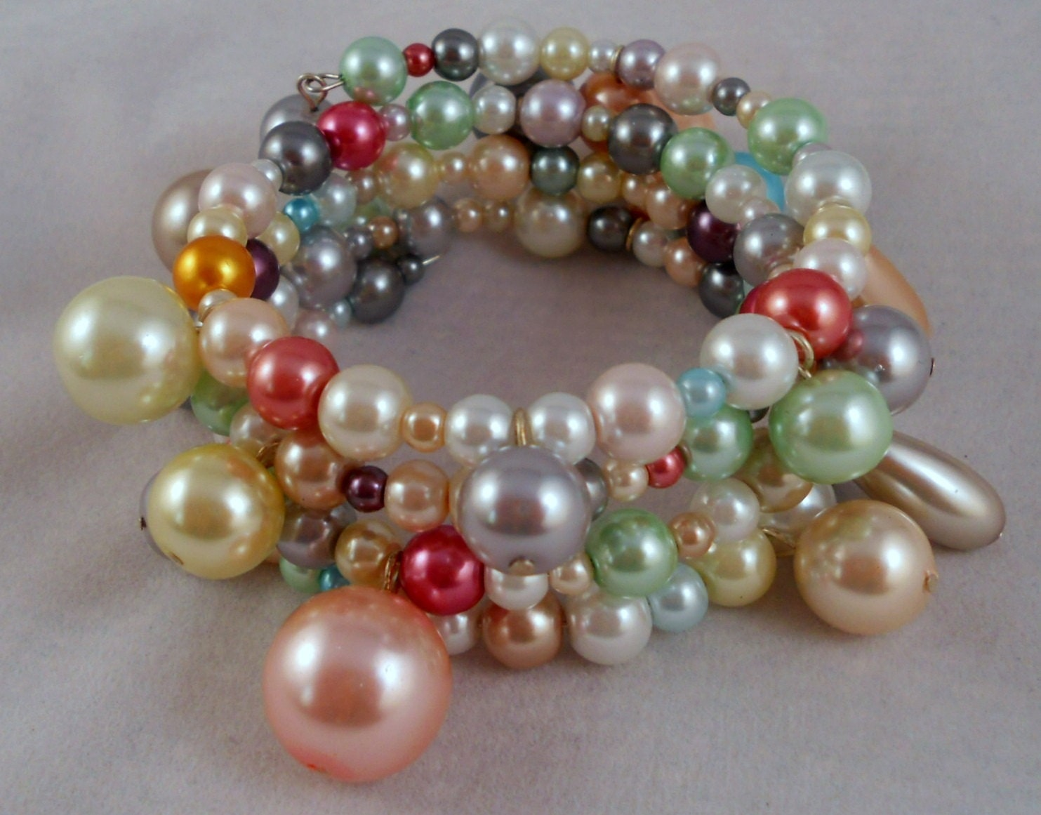 LUSTROUS PEARL MEMORY Bracelet  Free Shipping by allurejewelsbycc from etsy.com