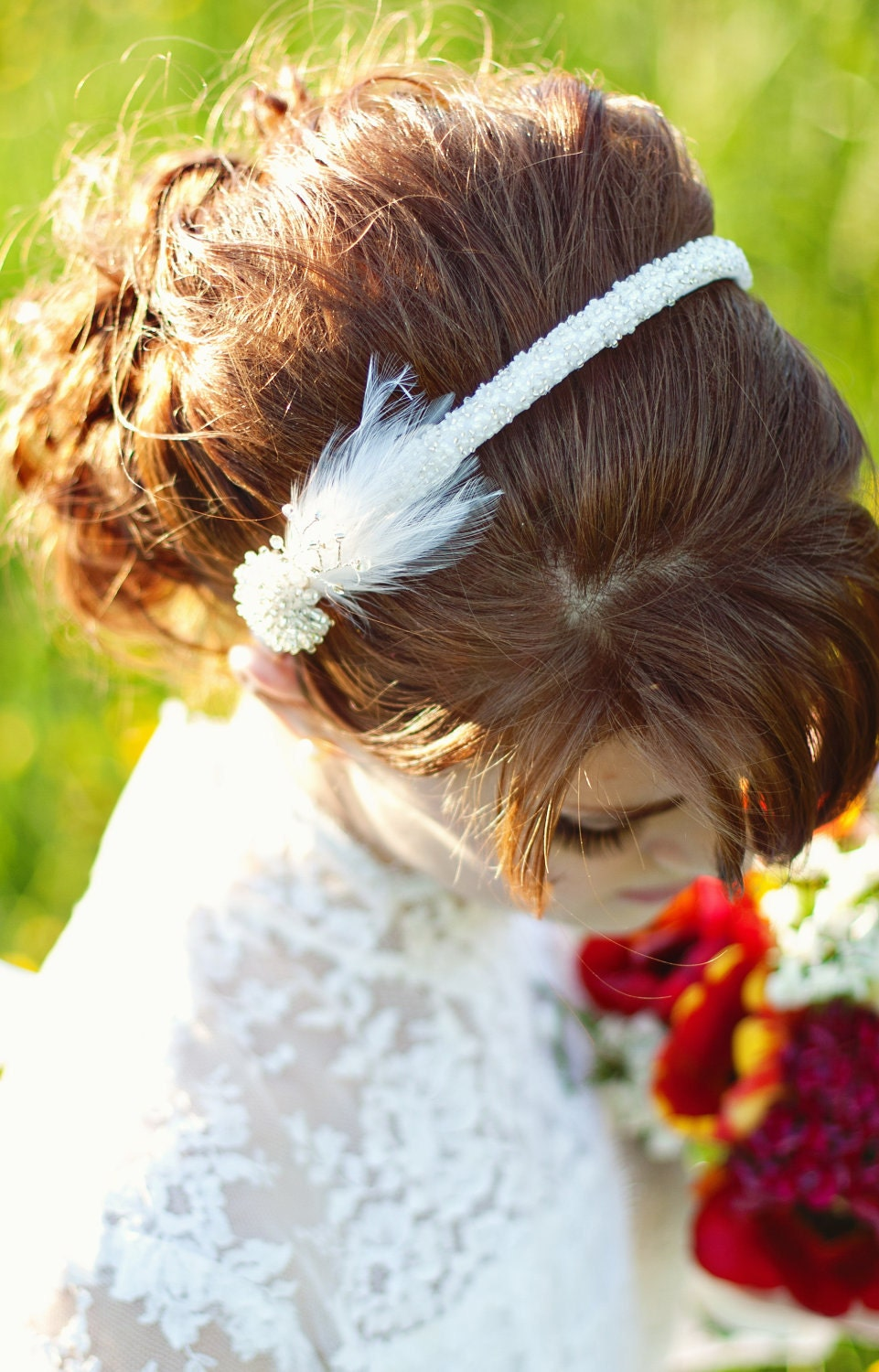 Beaded Wedding Headband, The Shirley Headband