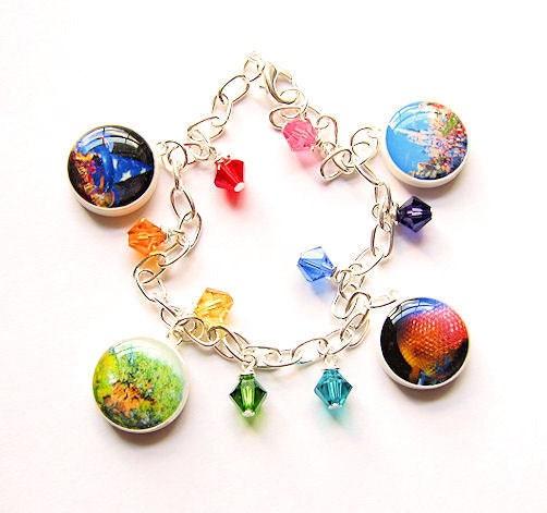 walt disney world charm bracelet four parks icons by