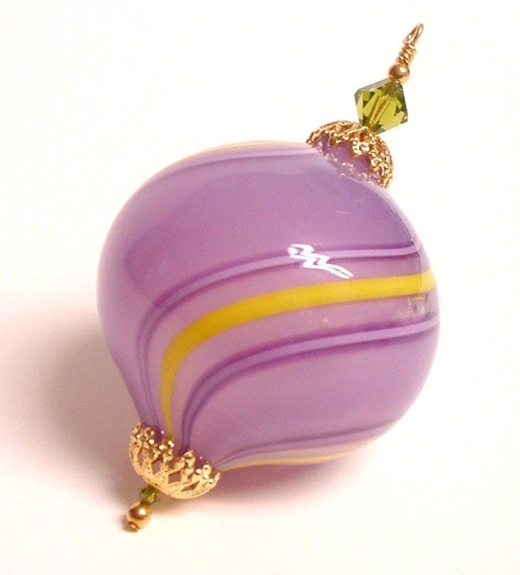 Hand Blown Glass Christmas Ornament Decoration Purple
