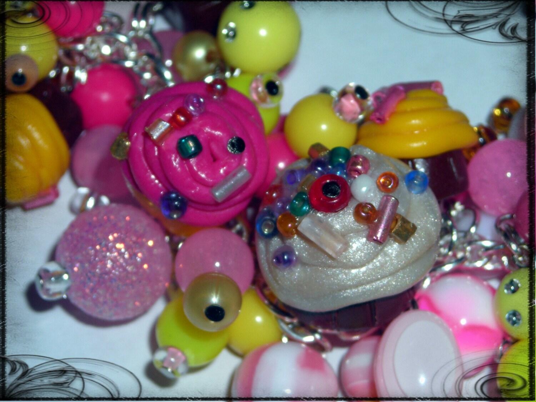 Sweet Cupcake Fringe bracelet - WiNKeLF :  handmade bracelet fringe winkelf