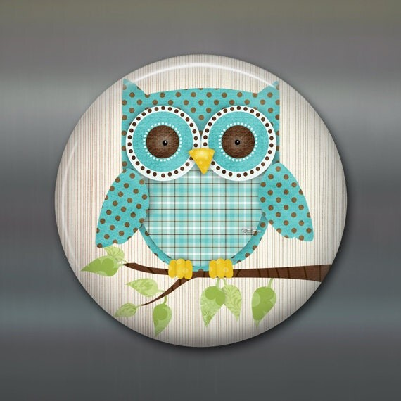 Items similar to cute owl fridge magnet owl decor Owl kitchen accessories