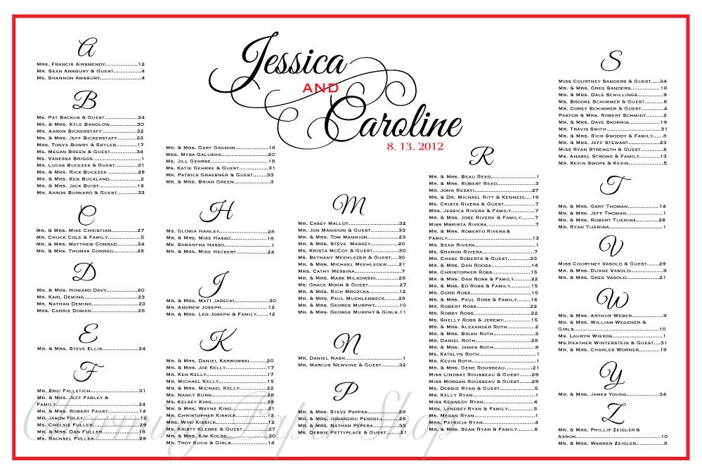 wedding table plan template – Wedding Seating Chart Template Word