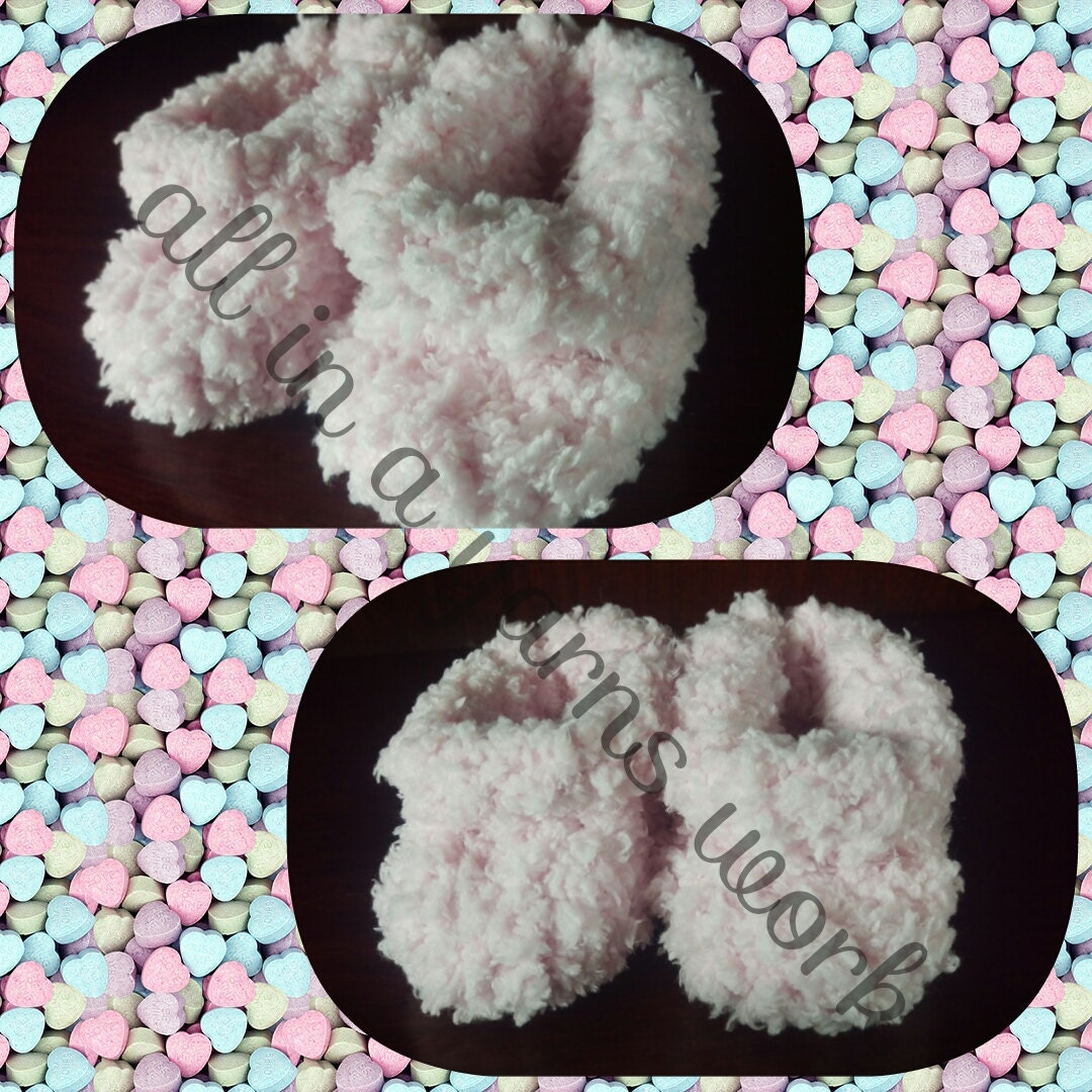 Baby fluffy knitted  shoes