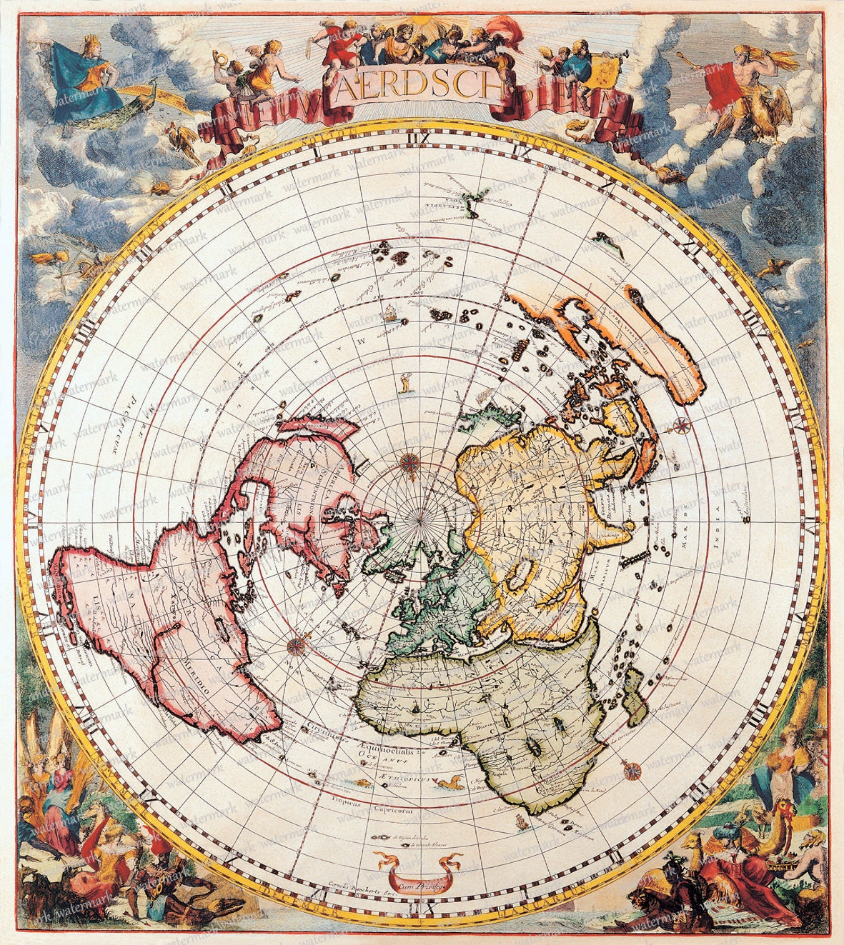 World Map Globe Old Digital Image Download by MemoriesPictures