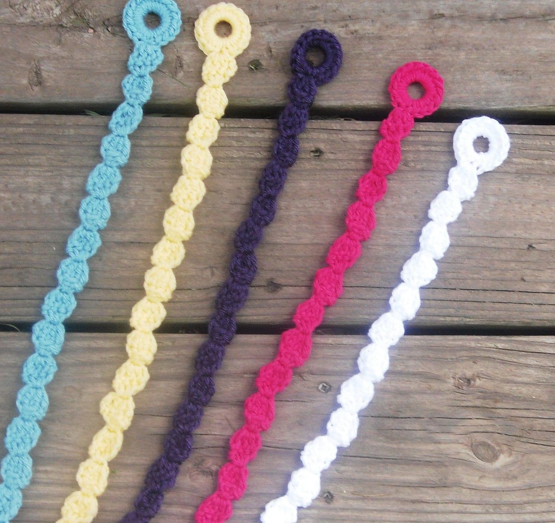 Crochet Hair Clips : Crochet Hair Clip Hair Bow HolderAny Color by KayaLuCreations