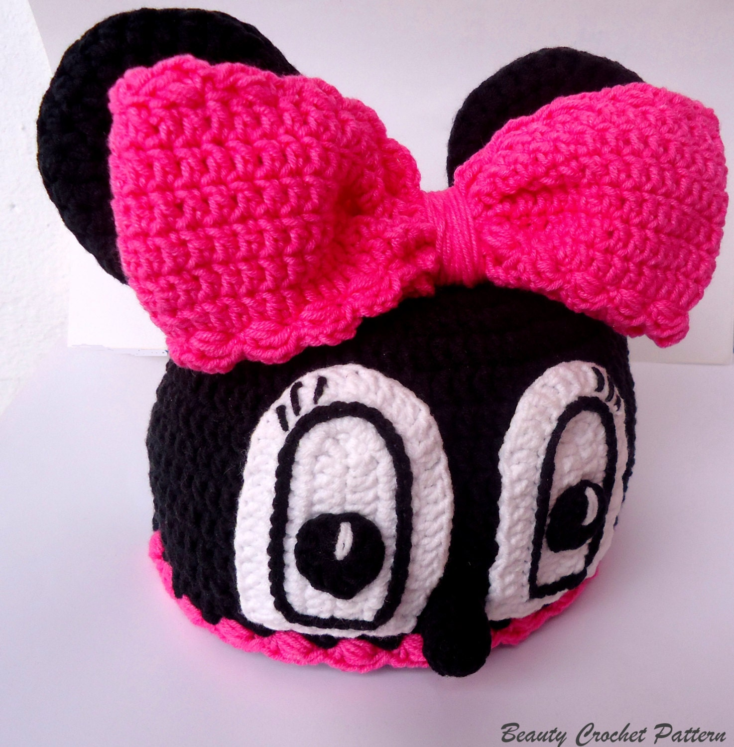 Minnie Mouse Crochet Baby Hat Pattern : Crochet Pattern Hat Miss Bow Mouse Minnie by ...
