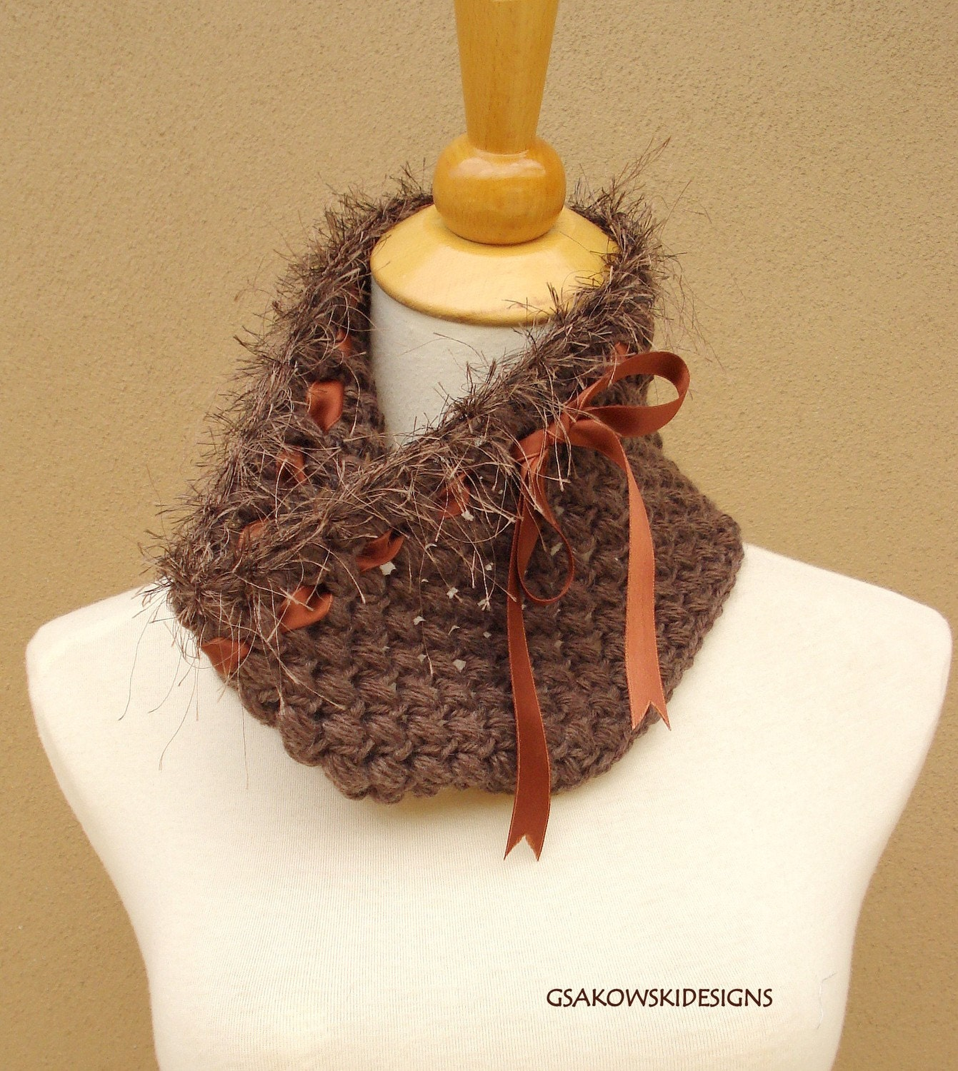 HOLIDAY SALE  Melissa-Cashmere Blend Cowl-Taupe