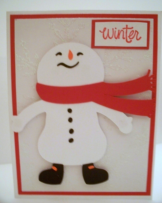 Winter Snowman Christmas Card