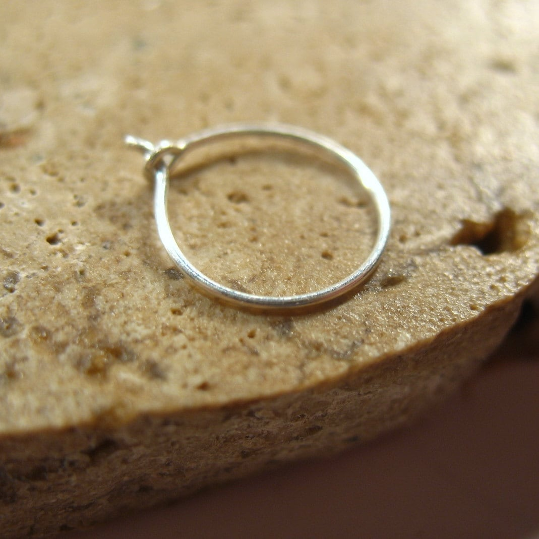 nose rings thin sterling silver 26 24 by