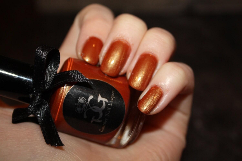 Time To Pretend - Autumn Red Duo chrome Nail Polish - Full Size - Handmade