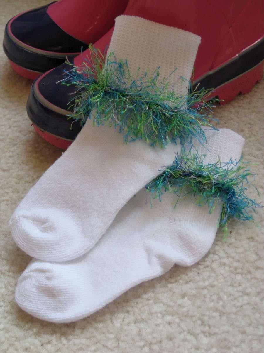 Green/Blue Fuzzy Todder Socks 12-24 months