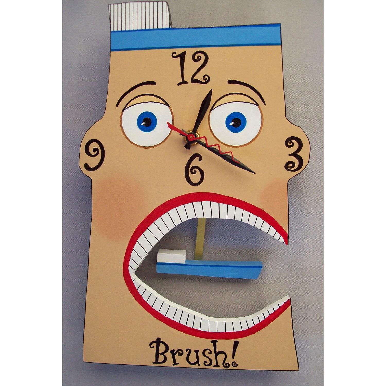 Brush Dental Clock By Janusdesigns On Etsy
