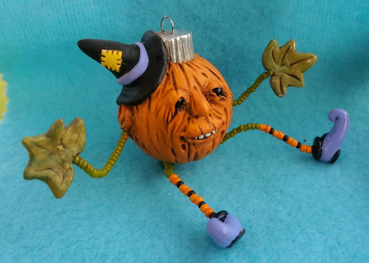 Happy Jack the Pumpkin by darbella designs in Polymer Clay - darbelladesigns