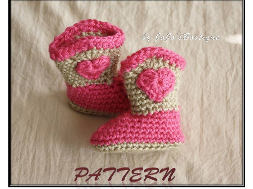 Free Crochet Patterns For Baby Girl Bonnets : Cowboy Boots PATTERN Girl Cowboy Boot Pattern by JojosBootique