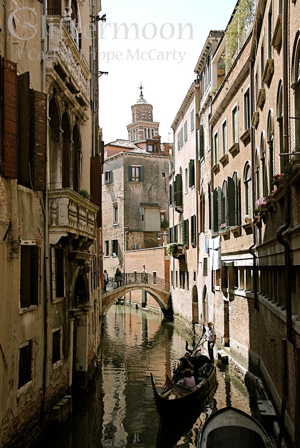 Serene Journey in Venice: 5x7 Matted Photographic Print - GlittermoonCards