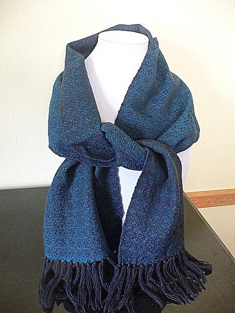 Hand Woven Wool Scarf - FiberandBeadBoutique