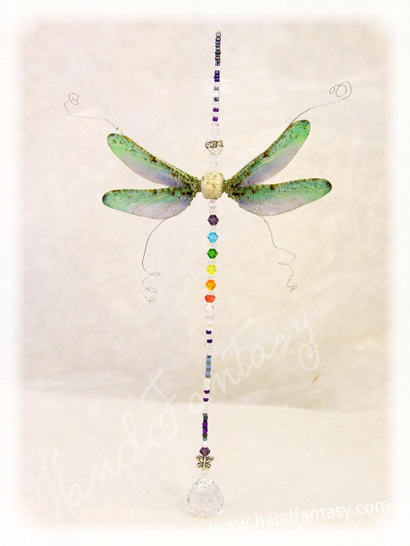 Feng Shui pendant dragonfly. Harmonize and beautify your home and spaces - Handfantasy