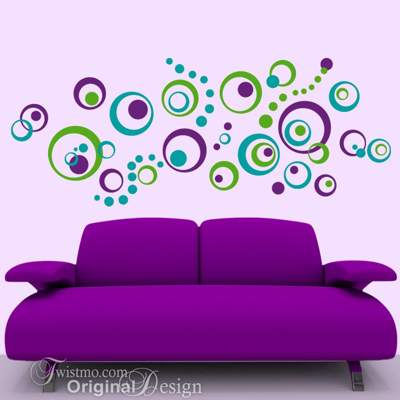 Circle Polka Dot Vinyl Wall Decals
