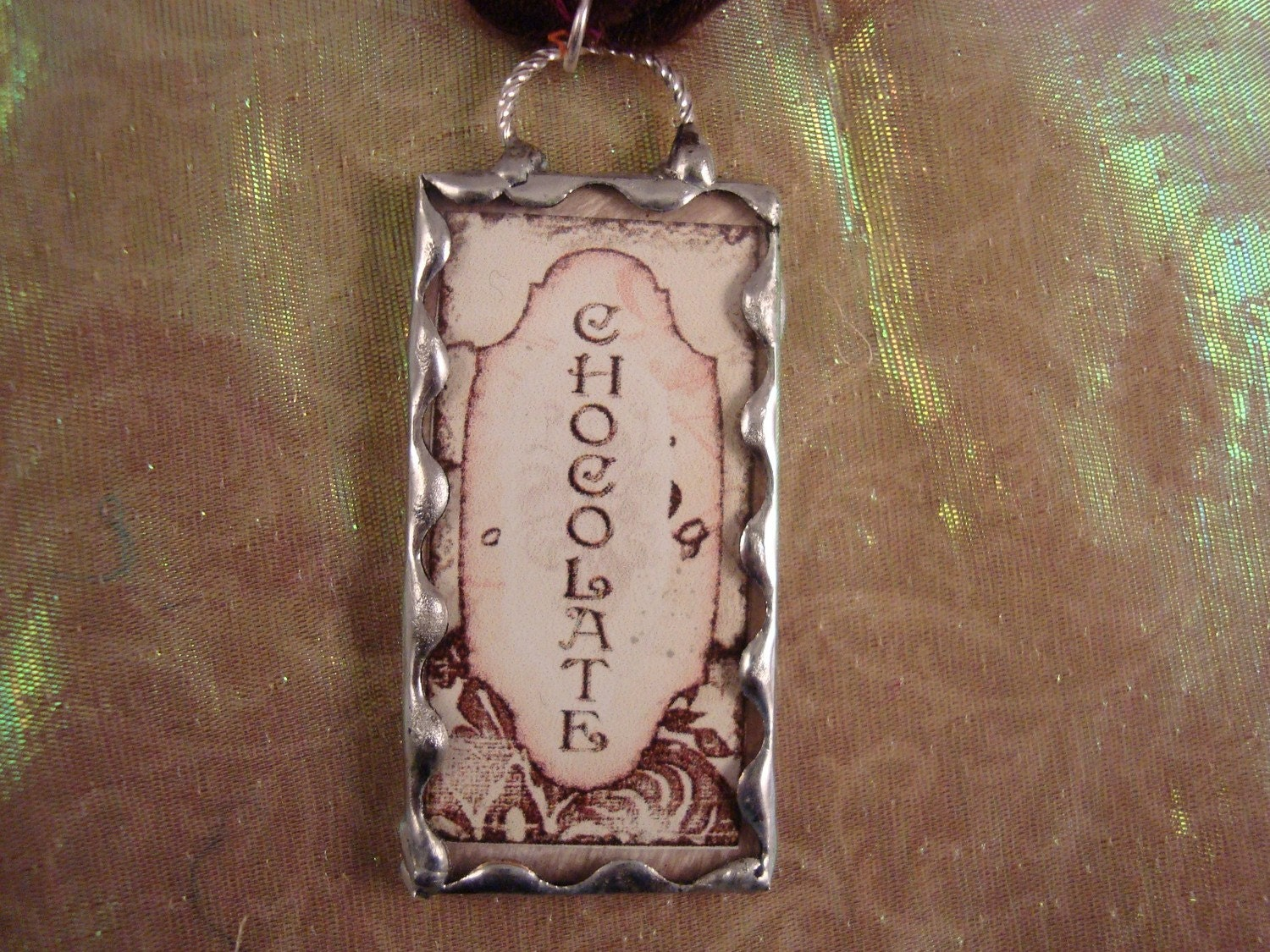 CHOCOLATE - Soldered Glass Pendant