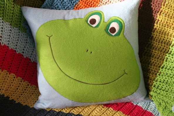 Frog Cushion Pillow