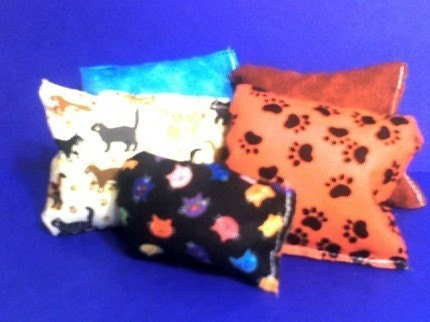 Gift Bag of 4 Handmade Catnip Pillow Toys in a Resealable Bag