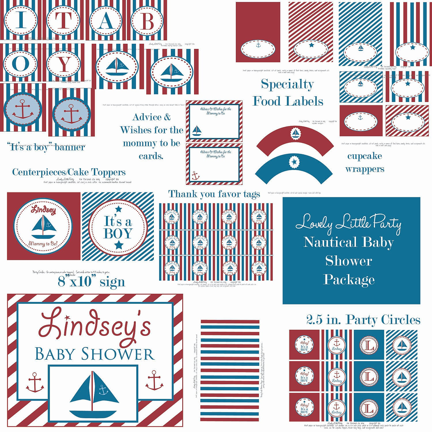 Popular items for nautical baby shower on Etsy